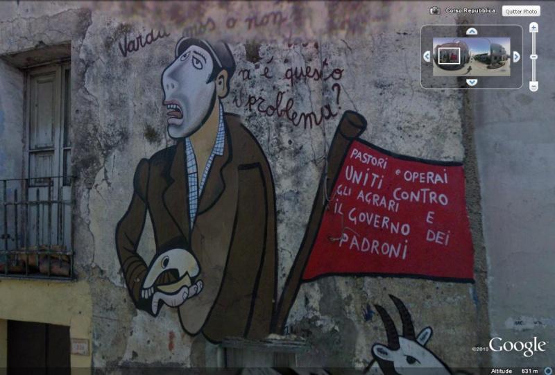 STREET VIEW : Peintures murales de l'île de Sardaigne - Italie. Orgoso10