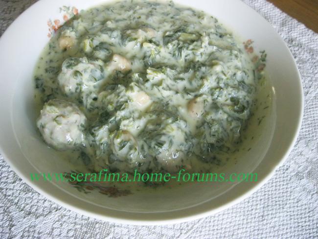 Довга с мясными фрикадельками. Азербайджанская кухня Dovga210