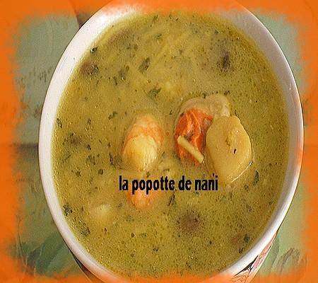 Soupe aux crevettes et st jacques Soupee10