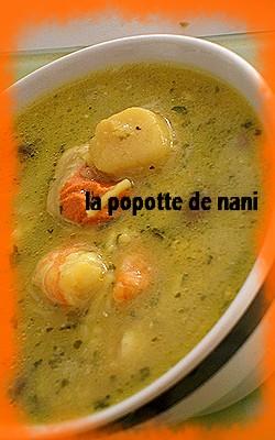Soupe aux crevettes et st jacques Soupel10