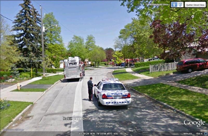 STREETVIEW: intervention des pompiers, West Deane Peak, Canada Pompie10