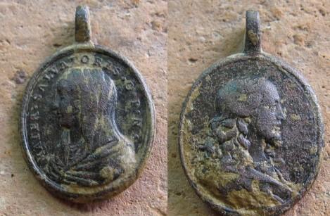 "Médaille Jésus & Marie - type ""Mater Salvatoris / Salvator Mvndi"" (2) 05092011"