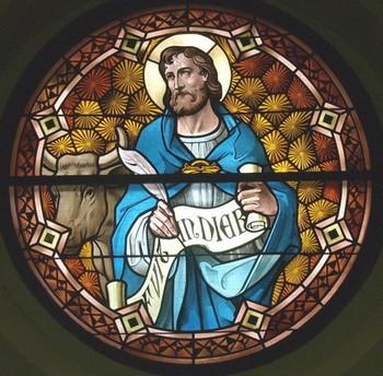Vitraux Eglise de Lorraine : St-Luc et St-Mathieu Aluc12