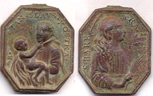 "Médaille  ""S.-Barbara/B.-Stanislavs Kostka"" - Datation av. 1726-ap. 1605 Scanne11"