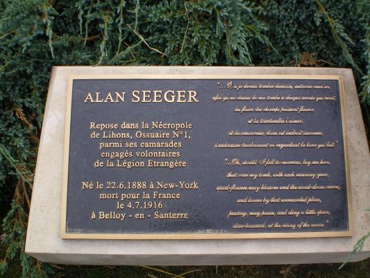 hommage a ALAN SEEGERSet a ses camarades Légionnaires a belloy en santerre 0000010