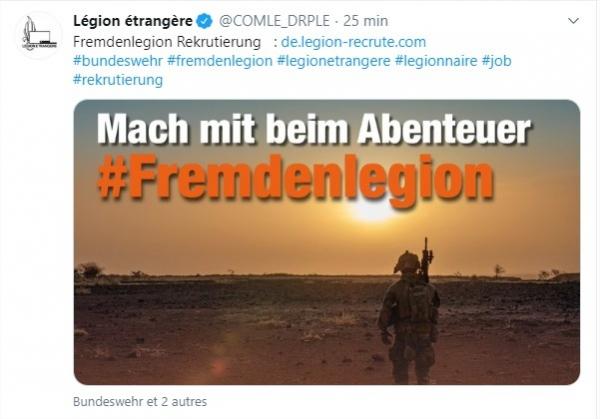 La Légion fait du pied aux allemands. 13651012