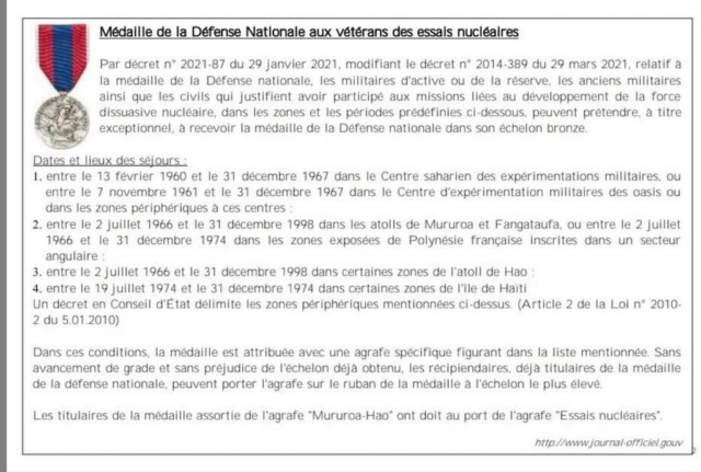 Médaille de la Défense Nationale - Page 2 Decret10