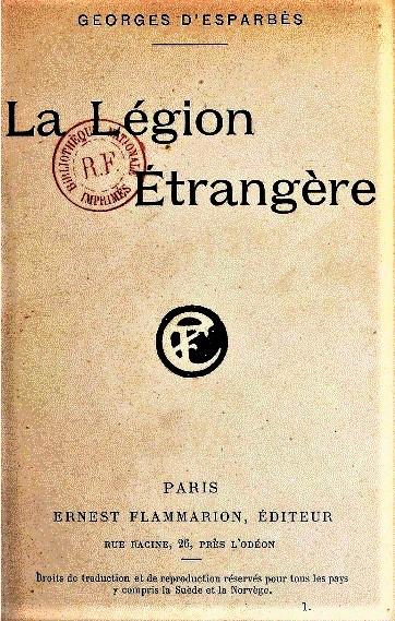 Vieux livres Légion Etrangère Lalgio13