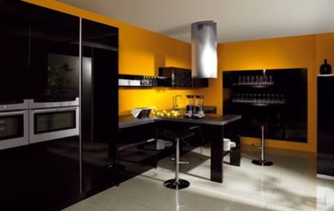 quelle couleur de mur pour une cuisine avec des meubles jaunes ?