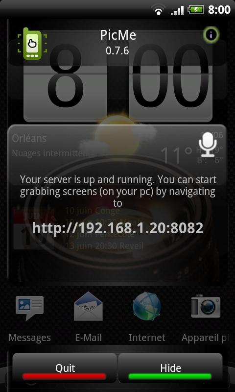 [Android] Picme - faire des captures d'écran du téléphone depuis le PC [ROOT obligatoire] Snapsh10