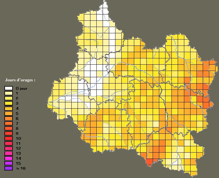 Jours d'orage par zones - 2011 Orage_10