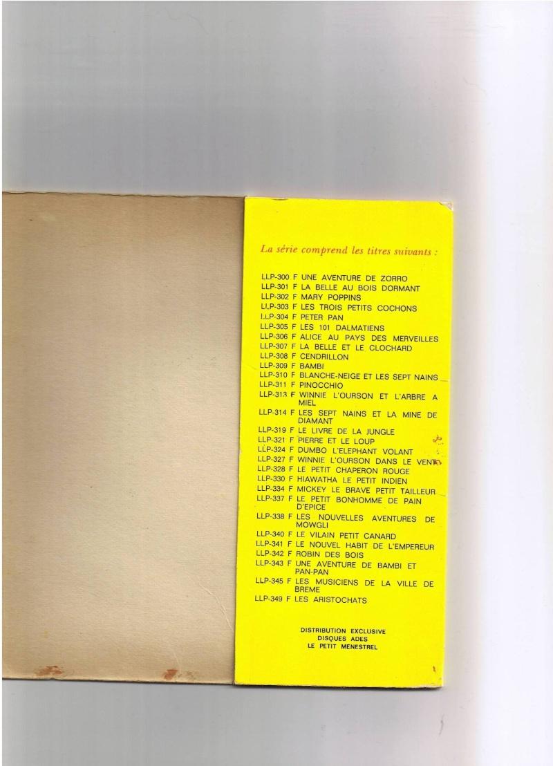 [disneyland-record] les livres disques de walt disney productions Titres10