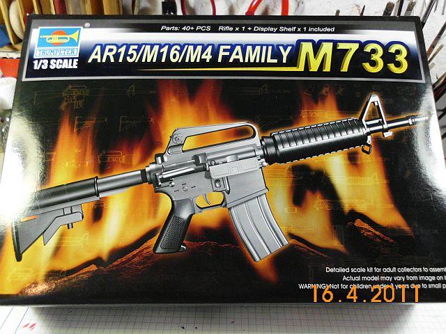Trumpeter 01906 - Sturmgewehr M16M4 - Bausatz 1/3 - Vorstellung 150