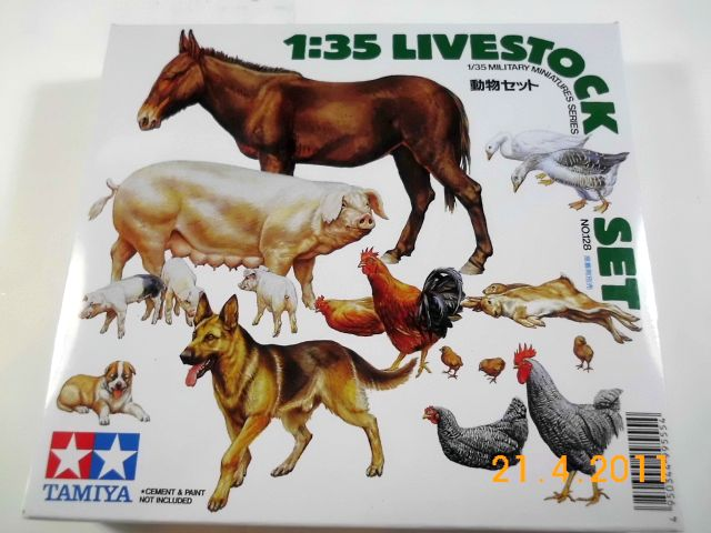 Tamiya - Livestock Set (Farmtiere) 0128 in 1/35 - Vorstellung 152