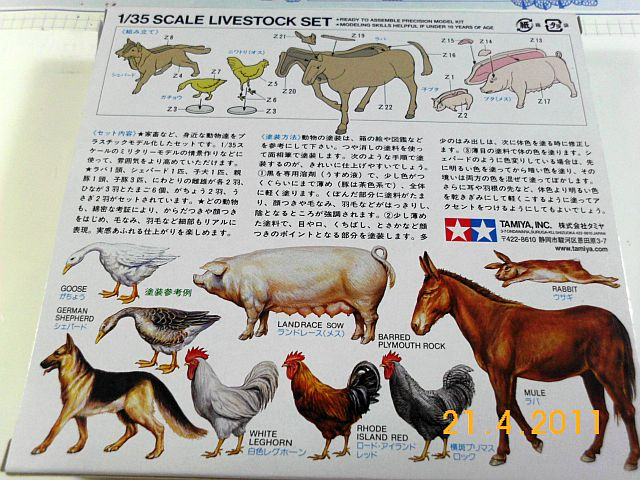 Tamiya - Livestock Set (Farmtiere) 0128 in 1/35 - Vorstellung 248