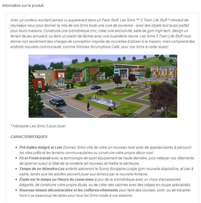 Les Sims™ 3 : Vie Citadine Kit Infosp10