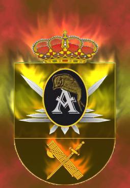 Distintivo fuego bandera. Distin10