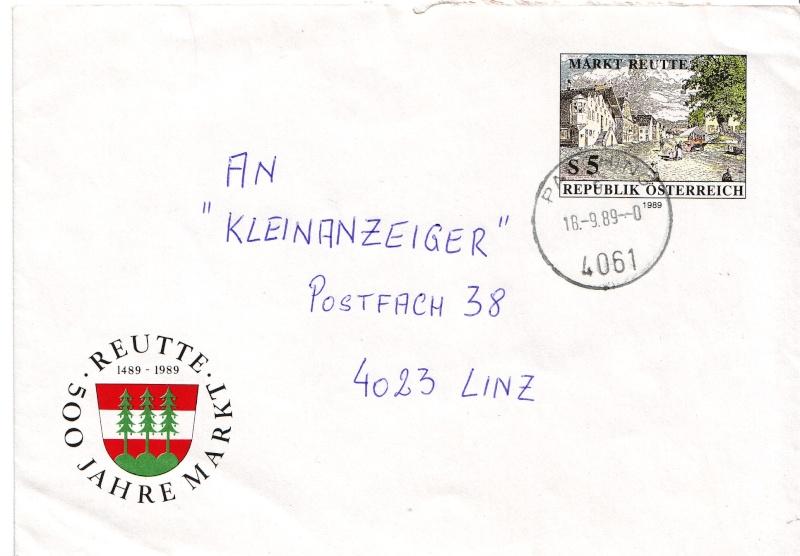 Amtliche Briefumschläge Republik Österreich, gelaufen Briefu11