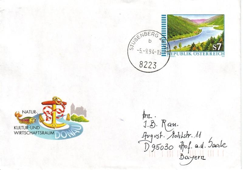 Amtliche Briefumschläge Republik Österreich, gelaufen Briefu12