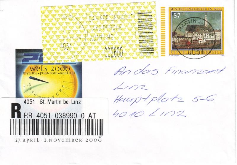 Amtliche Briefumschläge Republik Österreich, gelaufen Briefu14