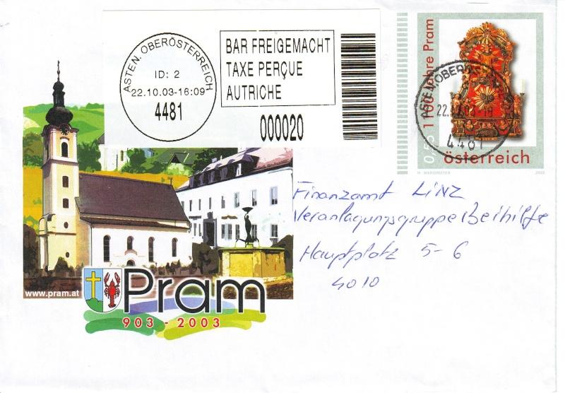 Amtliche Briefumschläge Republik Österreich, gelaufen Briefu15