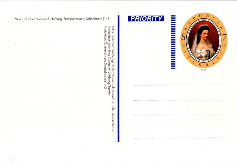 Ansichtskarten mit Werteindruck = Bildpostkarten Elisab11