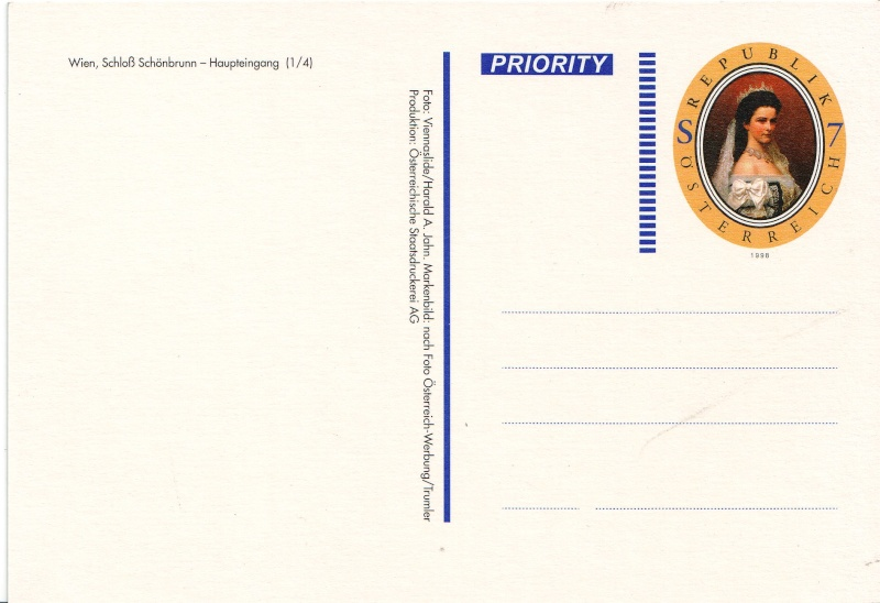 Ansichtskarten mit Werteindruck = Bildpostkarten Schlos11