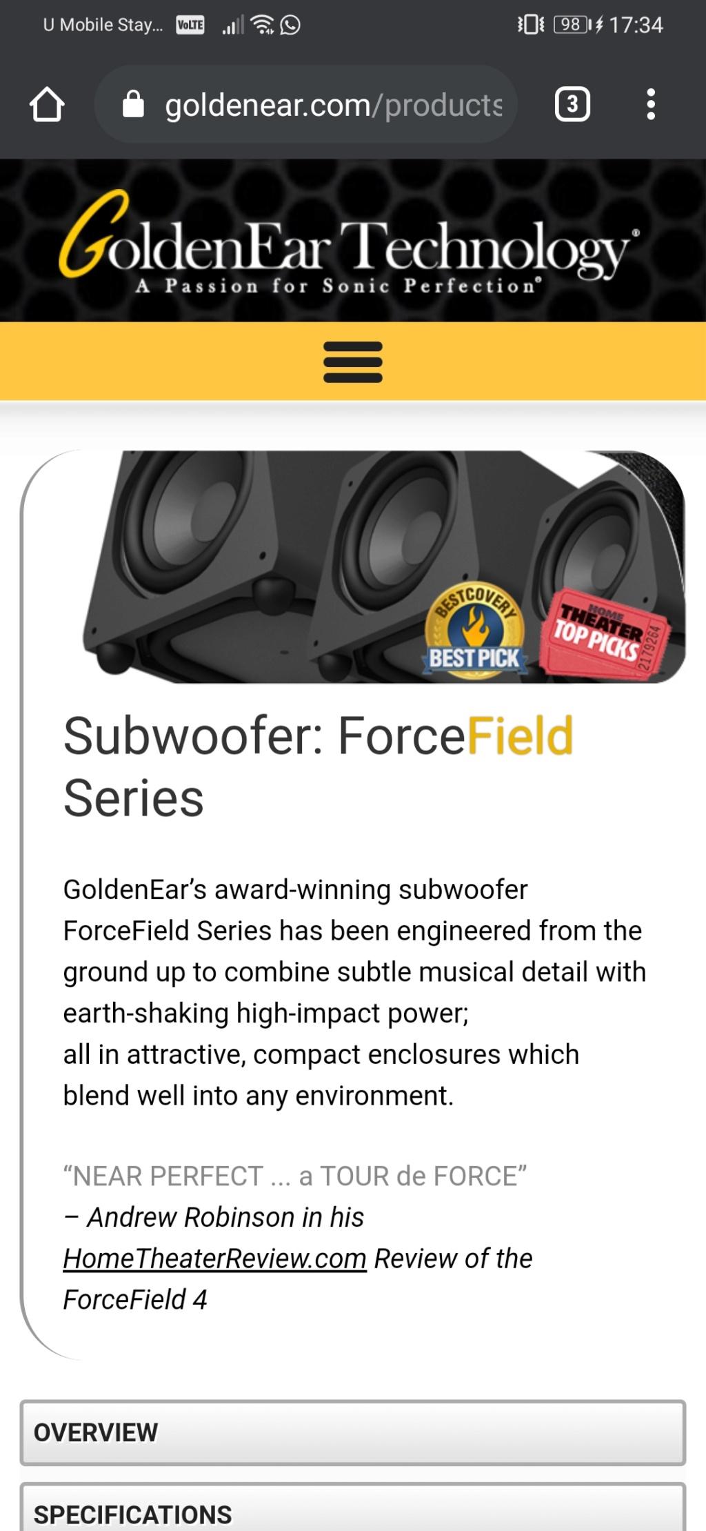 Golden Ear FF4 subwoofer (sold)  Screen10