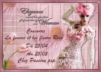 femme et fleurs rose du 25/04 au 25/05 Logo13