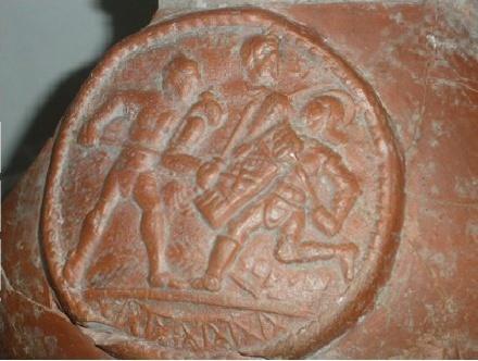 Médaillons avec gladiateurs Arles_10