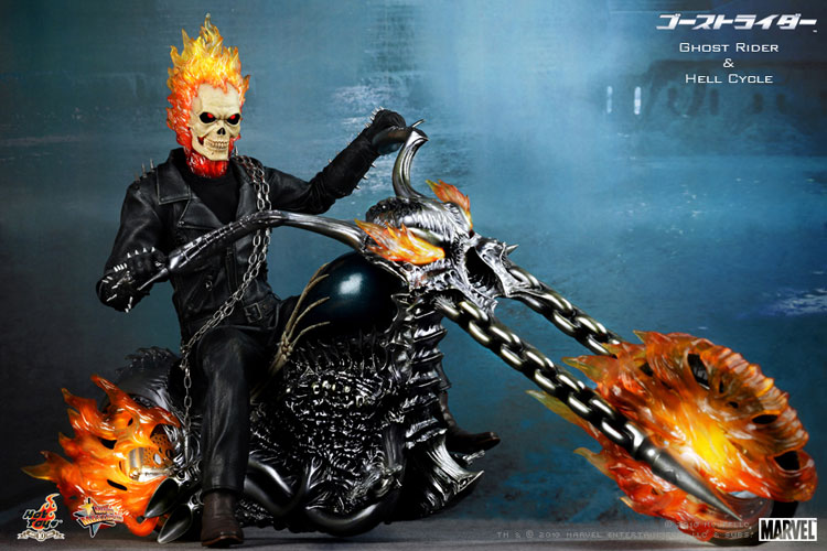MOVIE MASTERPICE-1/6 SCALE FIGURE POSEABLE FULLY: GOST RIDER E HELL CYCLE 0128111