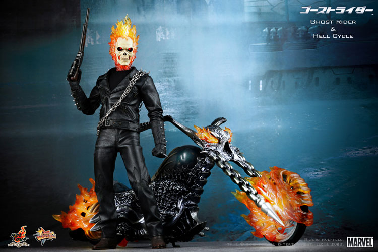 MOVIE MASTERPICE-1/6 SCALE FIGURE POSEABLE FULLY: GOST RIDER E HELL CYCLE 01281b10