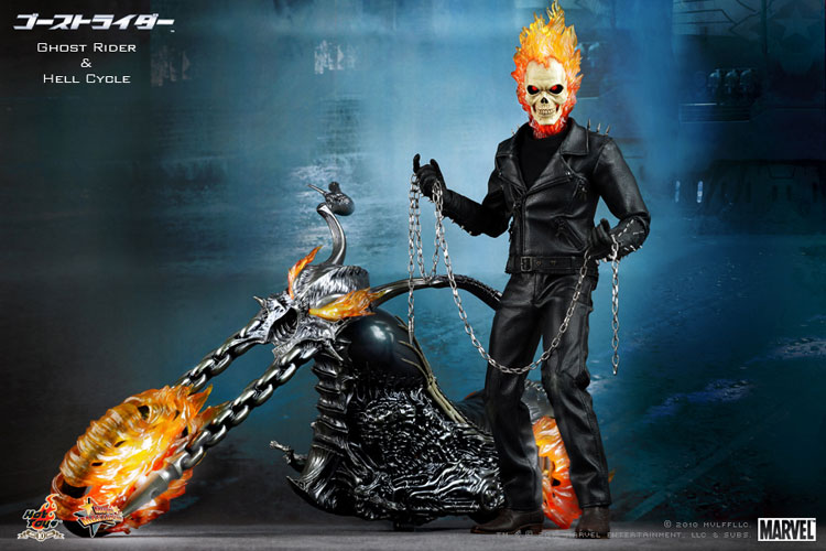 MOVIE MASTERPICE-1/6 SCALE FIGURE POSEABLE FULLY: GOST RIDER E HELL CYCLE 01281c10