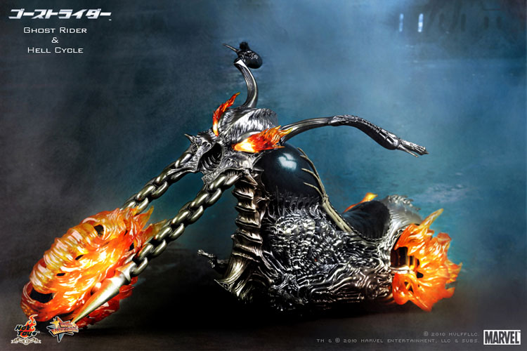 MOVIE MASTERPICE-1/6 SCALE FIGURE POSEABLE FULLY: GOST RIDER E HELL CYCLE 01281d10