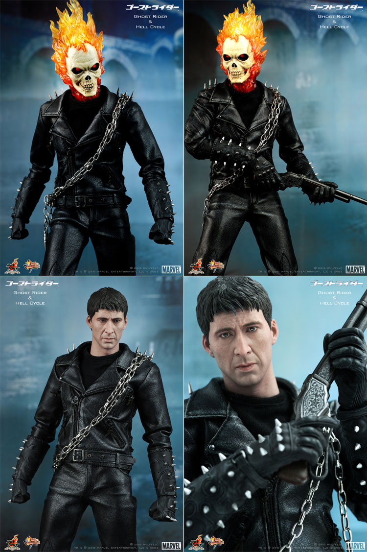 MOVIE MASTERPICE-1/6 SCALE FIGURE POSEABLE FULLY: GOST RIDER E HELL CYCLE 01281g10