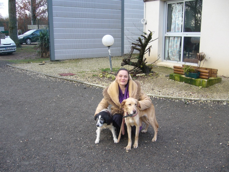 Maria, Zoé et Laya sauvée, bientôt 1 an ..en visite P1080110