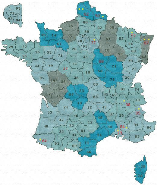 La carte de France des amateurs Field Target... Carte_10