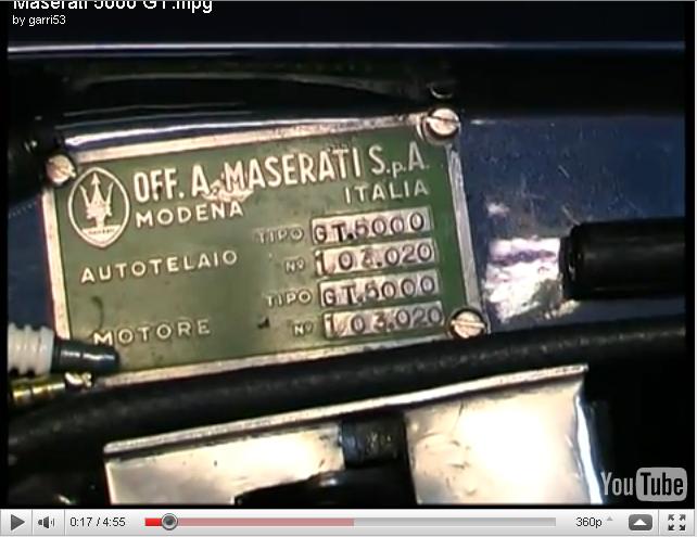 Maserati 5000 gt. Spyder? Telaio10