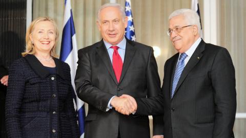 Pourparles de paix israélo-palestinien  Afp_1010