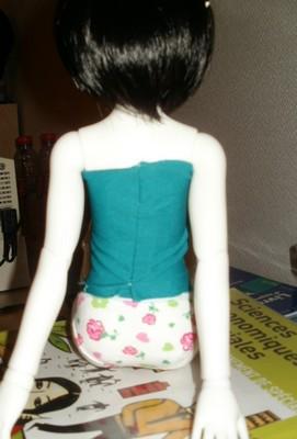 Petite green à l'aiguille [p1 - haut et jupe orange] P4210014