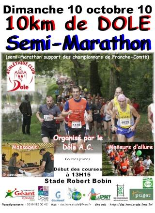 20ème édition des 10km et semi marathon de Dole le 10/10/10 Affich10