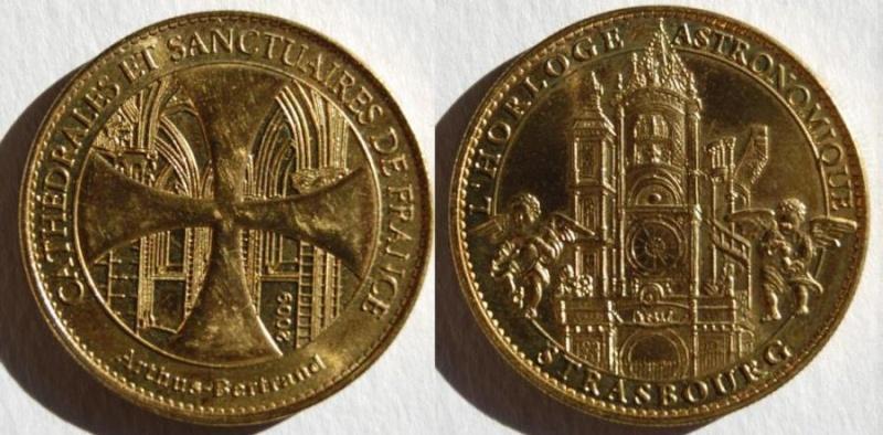 Médailles Arthus Bertrand - Cathédrale de Strasbourg Re_mad10