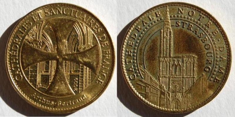 Médailles Arthus Bertrand - Cathédrale de Strasbourg Re_mad11