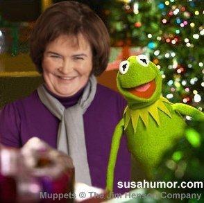 Susan with Kermit! (Spoof photo) Susank11