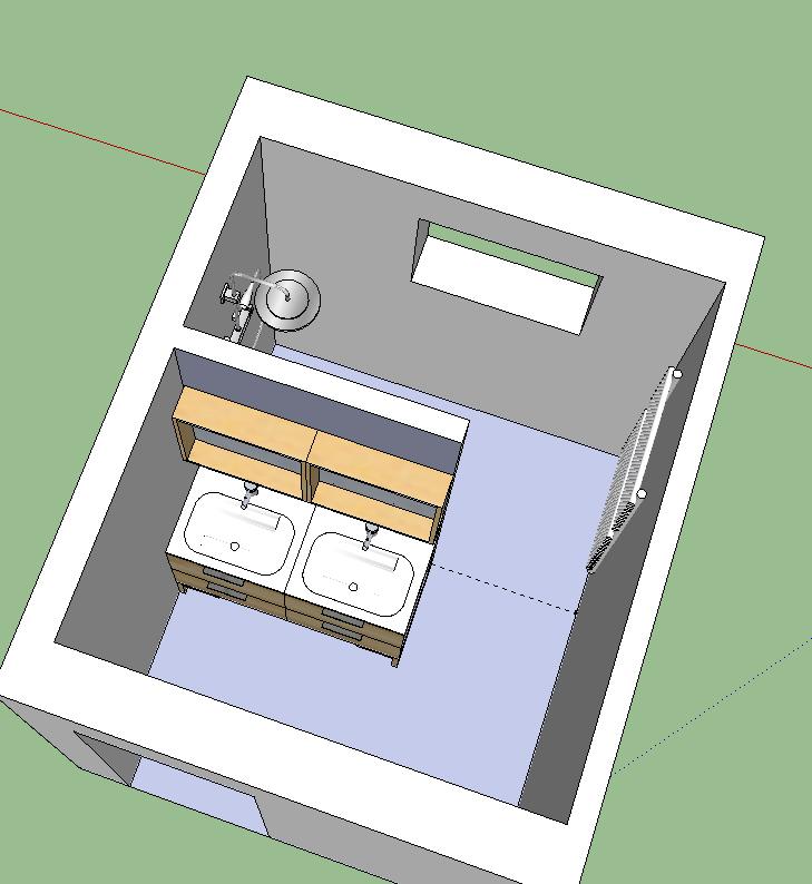 Rénovation salle de bains Melba..... le plan c ok mais Help P8 pour carrelages 0113