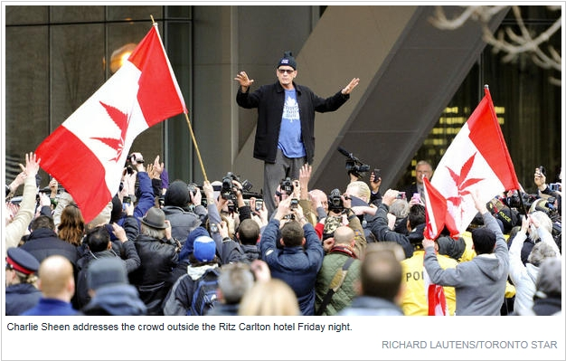Charlie Sheen stages Toronto march for bipolar disorder Screen10