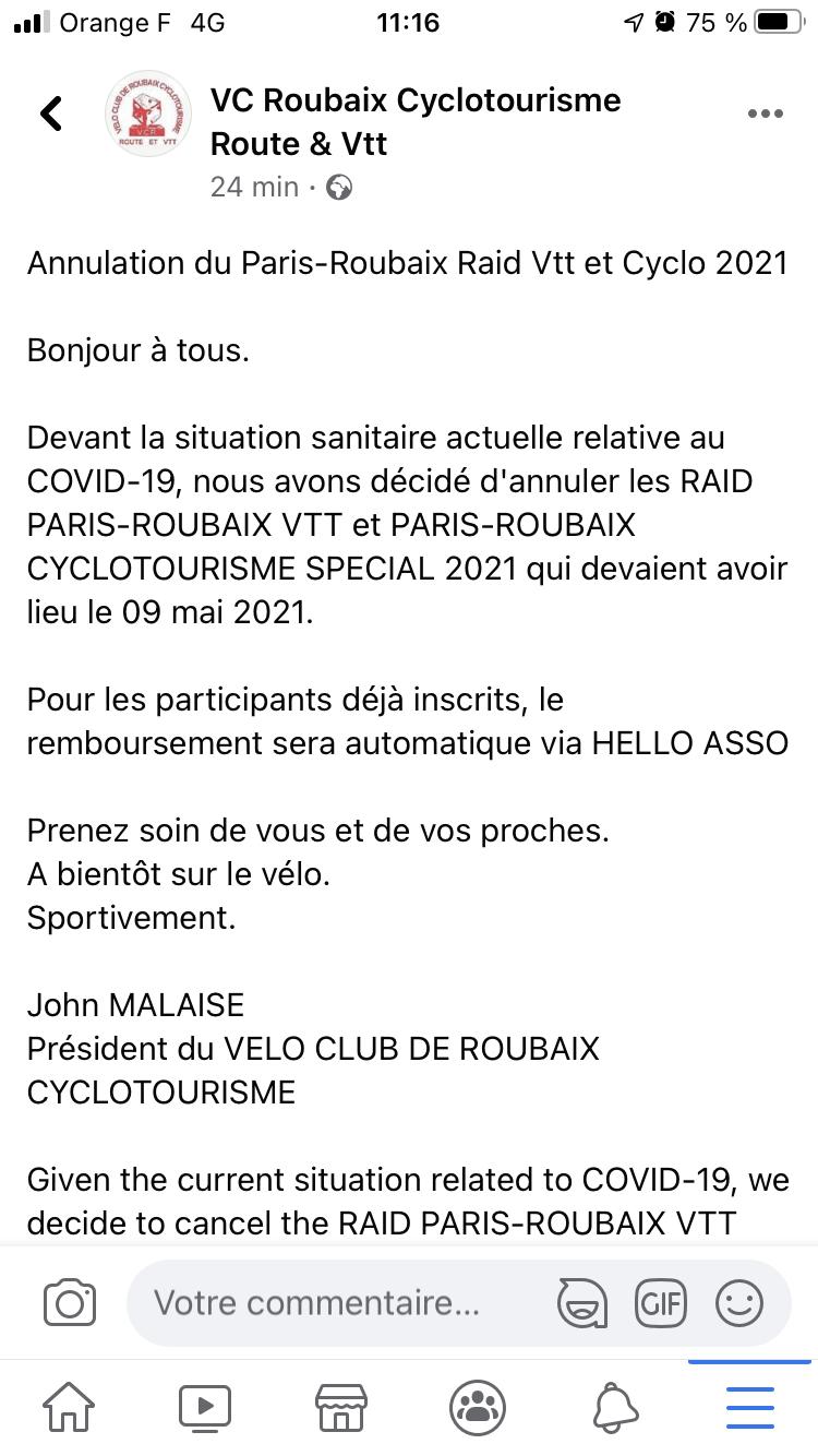 paris-roubaix 2021 vtt et cyclo [Orga Club] - Page 2 6189e610
