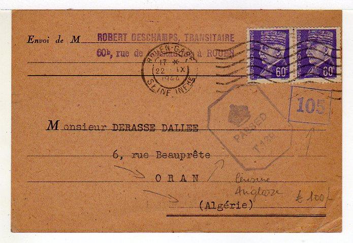 Tarif des cartes postales pendant la Deuxième Guerre mondiale 1944_c10