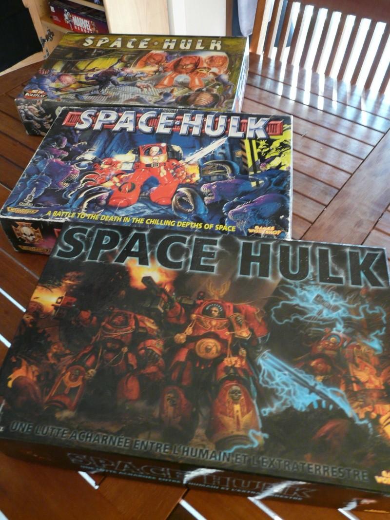 les 3 versions de space hulk P1140011