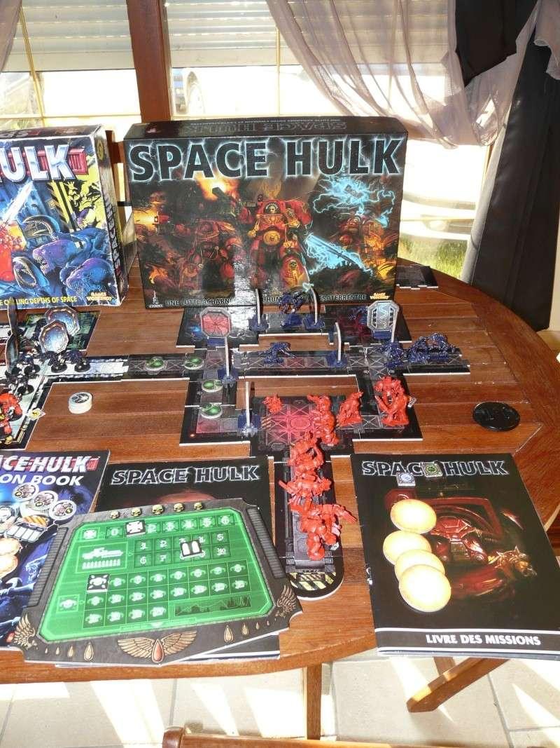 les 3 versions de space hulk P1140015